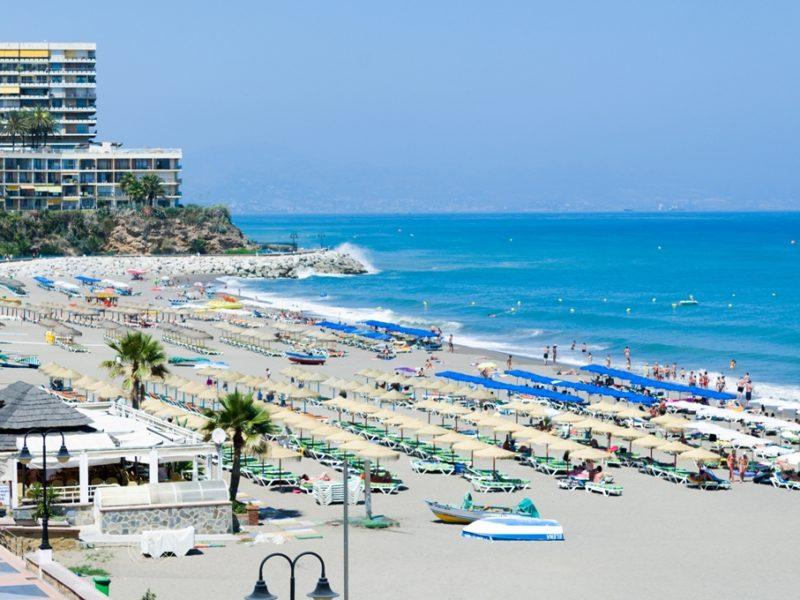 Playa de la Carihuela-Playa de Montemar, Torremolinos, Costa del Sol Occidental, Provincia de Málaga, Andalucía, España [Andalusia, Spain]